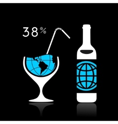 The world and alcohol vector image