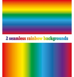 Two rainbow backgrounds seamless texture vector image vector image
