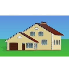 two-storey private house vector image vector image