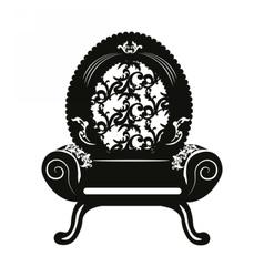 Vintage baroque classic armchair vector