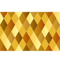 Yellow gold celebrate diamond polygon vector
