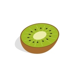 Half of kiwi fruit icon isometric 3d style vector