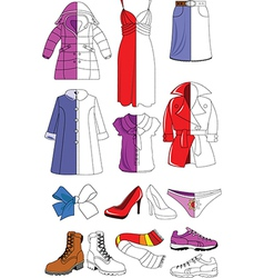 Female wardrobe vector