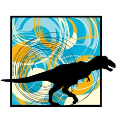 Abstract dinosaur vector