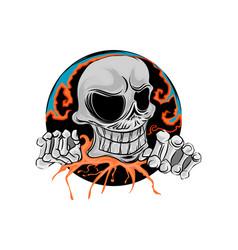 Skull smile scene vector