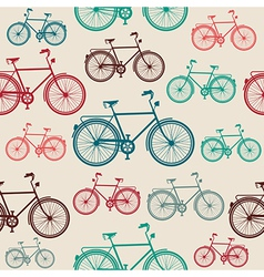 Vintage bike elements seamless pattern vector image