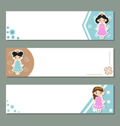 Set of banners set of banners vector