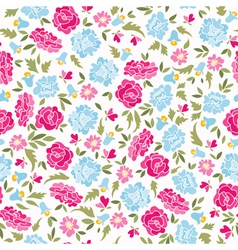 Pattern with roses and bluebells vector