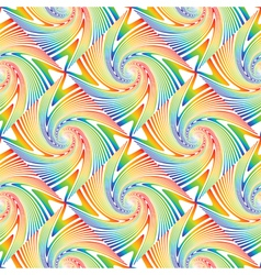 Design seamless colorful swirl pattern vector
