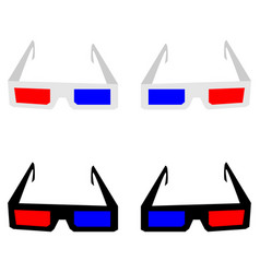3d spectacles or eyeglasses vector