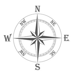Ancient wind rose 01 vector