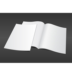Blank magazine on dark background vector