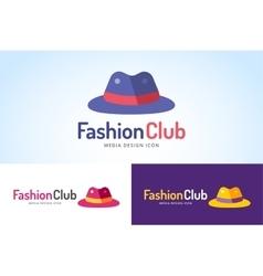 Shopping hat icon logo isolated on white vector image
