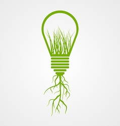 Green lamp ecology concept vector