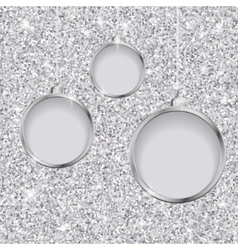 Silver Glitter Christmas Background vector image