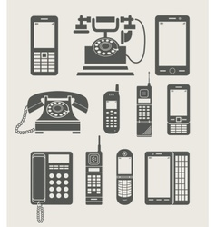 Phone set simple icon vector