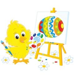 Easter chick painter vector