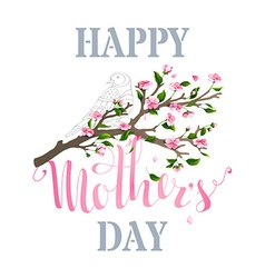 Happy mothers day spring card vector