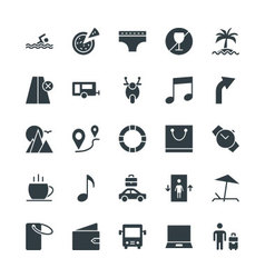 Travel cool icons 2 vector