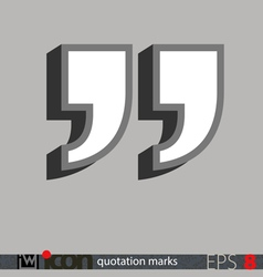 Quotation marks icon vector