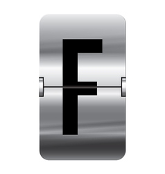 Alphabet silver flipboard letters f vector image