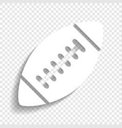 American simple football ball white icon vector