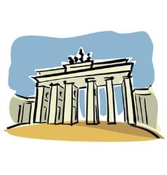 Berlin brandenburg gate vector
