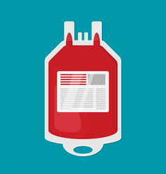 blood transfusion plastic bag flat icon vector image vector image
