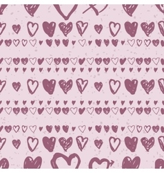Doodle seamless pattern with hearts vector