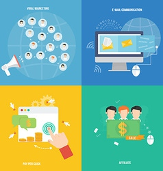Element of social marketing icon in flat design vector