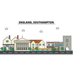 england southampton city skyline architecture vector image vector image
