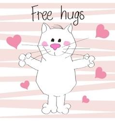 Free hugs vector