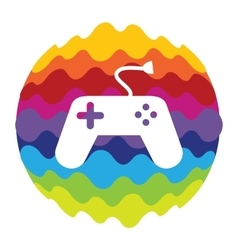 Game and fun rainbow color icon for mobile vector