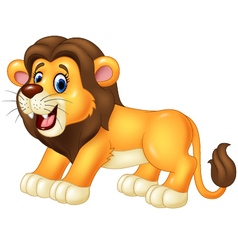 Happy lion animal isolated on white background vector image vector image