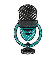 isolated microphone ico vector image vector image