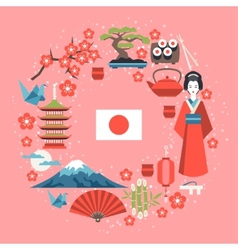 Japan background design vector image
