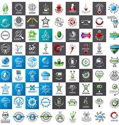 Large set of logos new technologies vector