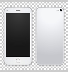 light grey smartphone template front and black vector image vector image