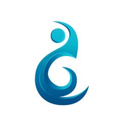 Logo element water aqua design vector