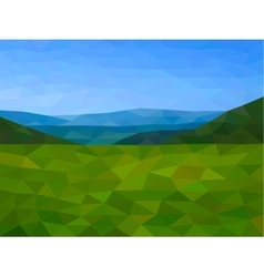 Low poly mountains with blue sky vector image vector image