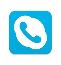 Modern blue phone icon vector