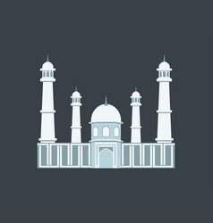 Muslim mosque in a flat style vector