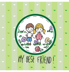 My best friend vector image vector image