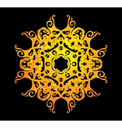ornate abstract silhouette vector image vector image