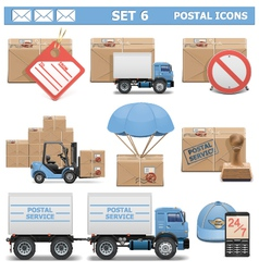 Postal Icons Set 6 vector image vector image