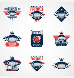 Set of american football logo template college vector