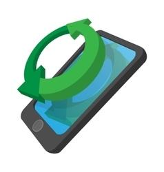 Smartphone refresh reload cartoon icon vector image vector image