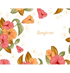Spring colorful floral background vector