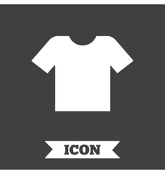 T-shirt sign icon Clothes symbol vector image