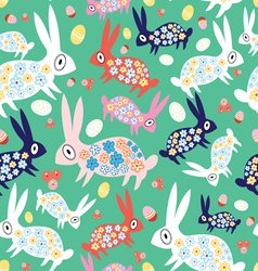 Texture colorful bunnies vector